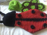 Baby photo shoot crochet lady bird and turtoise sets