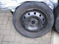 TYRE 165/60/14 on 4 stud wheel around 4/5mm tread ONLY £5