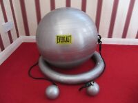 Pilates Core Sculpting System by Everlast . Balance ball with pump and instructions and DVD