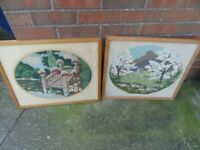 2 Vintage Tapestry pictures