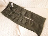 BRAND NEW H & M KHAKI CORDED TROUSERS Age 9-10