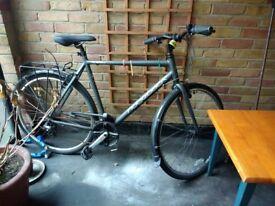 "Adult Ridgeback 21"" Grey Hybrid Bicycle w/ Helmet, 2 locks, lights"