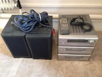Denon hi-fi amplifier with Auxilery in, CD player, Casette player. Comes with Mission 780SE speakers