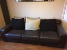 Free leather 4 seater sofa