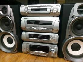Technics 5.1 hi-fi home cinema amplifier tuner Eq CD mp3 changer speakers