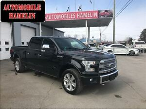 2015 Ford F-150 Platinum TECH PACKAGE GPS PANO MARCHE-PIED FULL