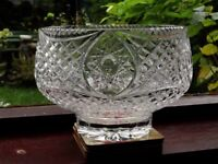 Tyrone crystal fruit bowl 20 cms 8inch diameter