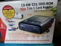 CD 're dvd/Rom plus 7 in 1 card reader