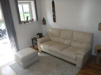 DFS three sater sofa and storage footstool