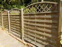 Pressure Treated Fence Panels with Trellis Top Only £25 each