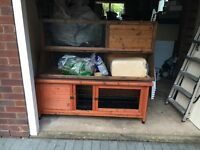 Hutch and 5' run for rabbit / guinea pigs, used but good quality