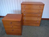 Matching Stag chests of drawers