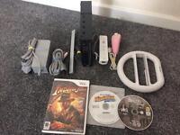 nintendo wii black console and games BARGIN