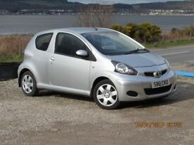 2011/61 TOYOTA AYGO ICE 1.0, SILVER, SERVICE HISTORY, ONLY 27000 MILES