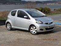 2011/61 TOYOTA AYGO ICE 1.0, SILVER, SERVICE HISTORY, VERY CLEAN.