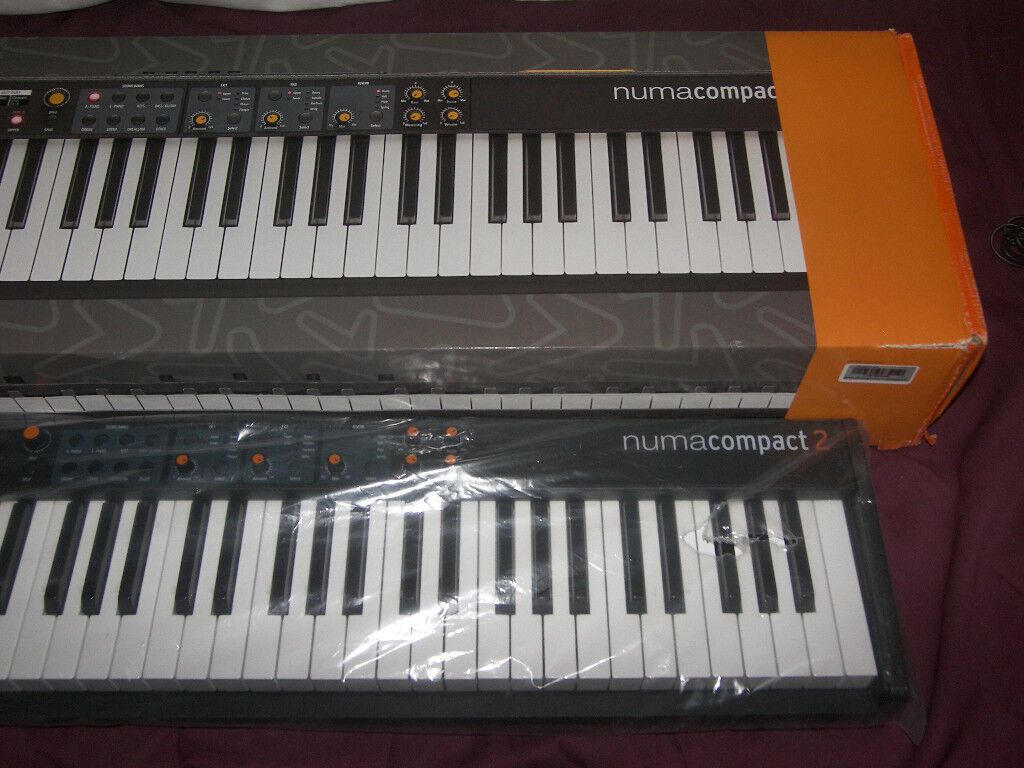 Studiologic Numa Compact 2 , 88 Keys , Semi - Weighted Compact Keyboard with built-in Speakers.