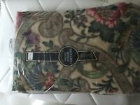 """Lined curtains 100% cotton with 3"""" heading tape"""