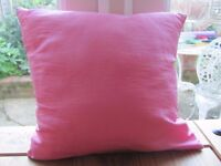 Small pink square cushion