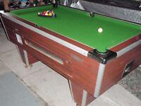 slate bed pool table 6x3
