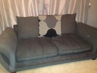 Charcoal and black 2 and 3 seater sofa