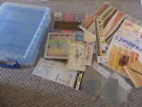 Really Useful hobby box (with tray) and various scrapbook/card making resources