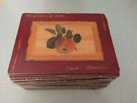 36 matching table mats - cork backed, by Lifestyle, The Garden of Fruits design
