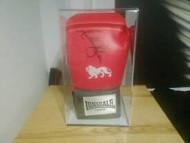 Anthony Joshua signed glove with COA