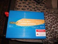power invertor 1500 watts 110 volts brand new stil in box