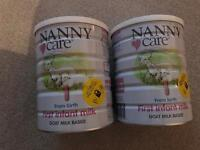 2 X 900g Nanny Care Goats First Baby Milk Still Sealed Never Used!! Sell for £25 each in store.