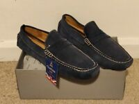 Mens navy shoes for sale - £25