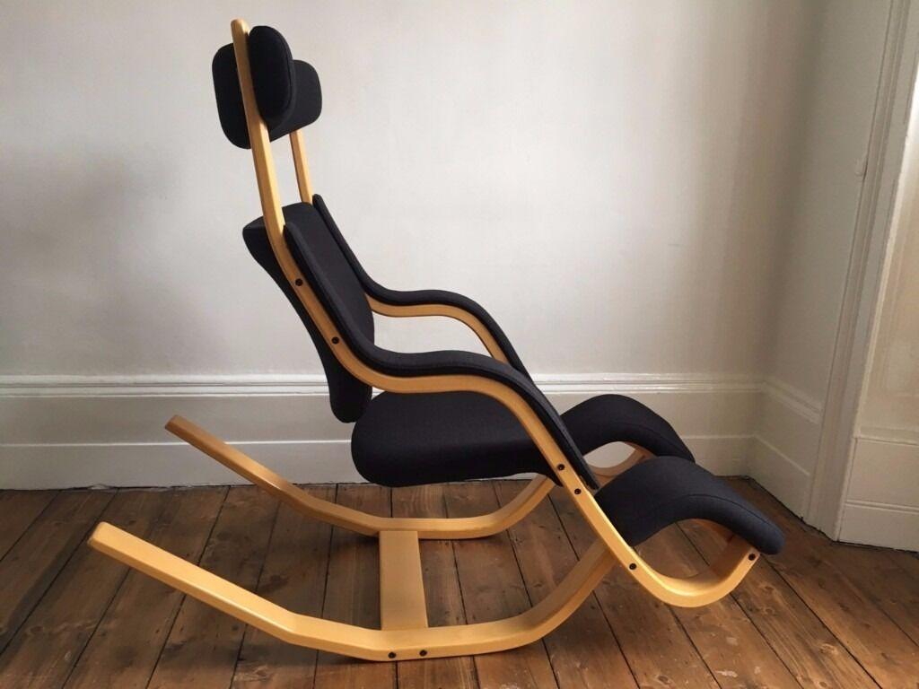Varier balans gravity chair ergonomic kneeling office chair relax in recliner position 1200 - Varier gravity chair ...