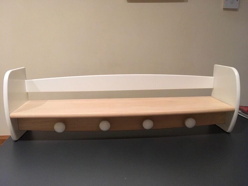 Natural wood & white shelf