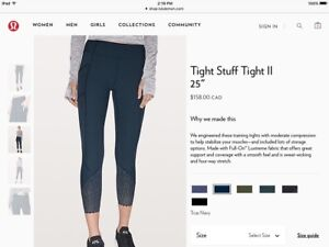 New Lululemon Tight Stuff Tight II, Size 2, True Navy Color
