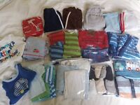 BIG box of baby boy clothes age 6-9 months