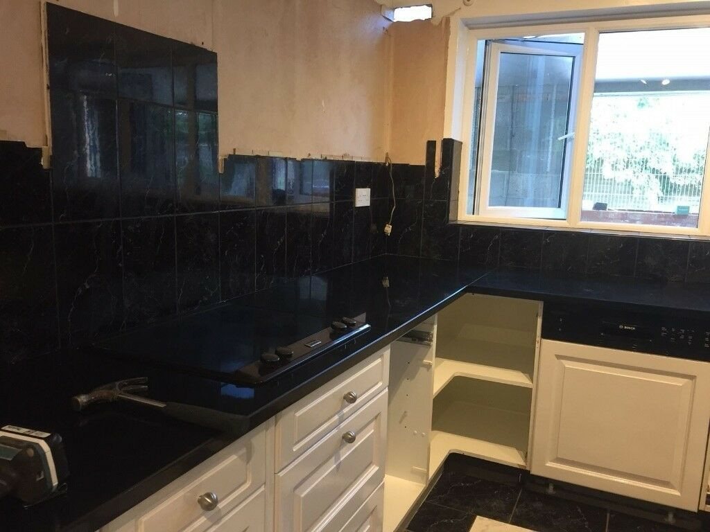 Black Galaxy Star Granite Kitchen Worktops In Newcastle Tyne And