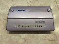 UNEX network 8 port hub