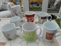 job lot CUPS & MUGS, 8 in total, includes 4 matching cups and 4 different mugs, collect Bristol