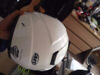 Motorbike jacket, helmet & lock