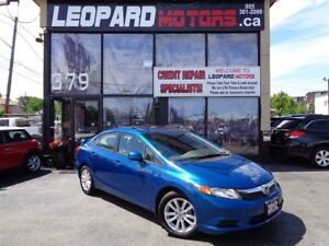 2012 Honda Civic EX-L, Navi, Sunroof,Leather Heated Seat*Certifi
