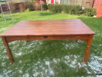 Dinning table solid oak 6 chairs