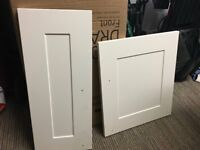 Cream B and Q Kitchen Doors with Handles