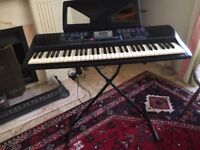Yamaha Pacifica 012 electronic keyboard with stand