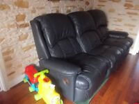 LOW PRICE Genuine leather 3 seater Sofa