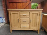 Solid Oak Sideboard - good condition