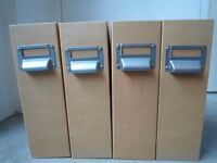 15 x Muji Classic brown paper white lined Mag Files with aluminum label holder RRP £4.95 each!