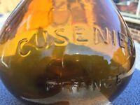 Brown glass Cusenier France bottle