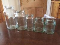 66 Glass jars