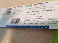 2 John Bishop tickets Nottigham