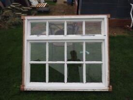 wooden Georgian window, single glazed, used, good condition, 12 panes 128.5x170cm