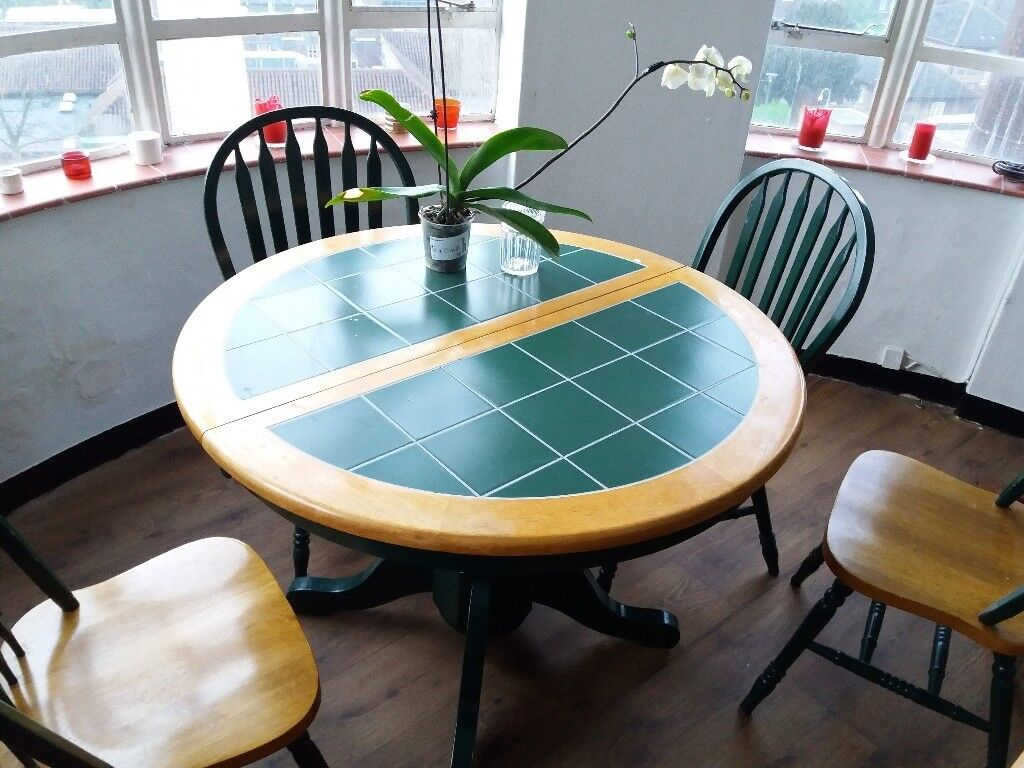 a dining table with 4 chairs to give away | in Camberwell, London ...